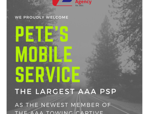 We Proudly Welcome Pete's Mobile Service to The AAA Towing Captive