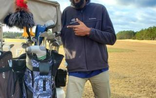 One Armed Golfer